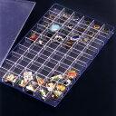 あす楽 ピンバッジ&リングケース 日本製 クリア 小物 コレクションケース ピンバッチ