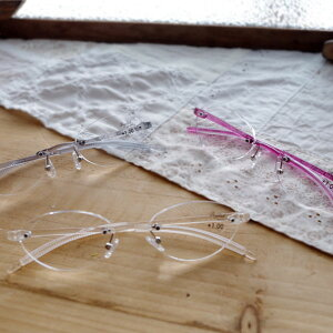 ビグラッドグラッシーズ BGE1011 老眼鏡 ケース付き 度数+1.0〜+3.5 男性・女性 シニアグラス フチなしフレーム