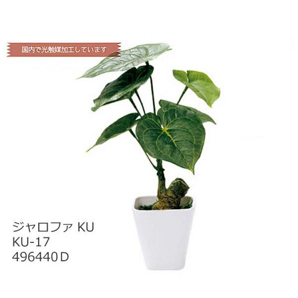 あす楽 光触媒 インテリアグリーン ジャロファ KU KU-17 496440D フェイクグリーン 造花 観葉植物 人工