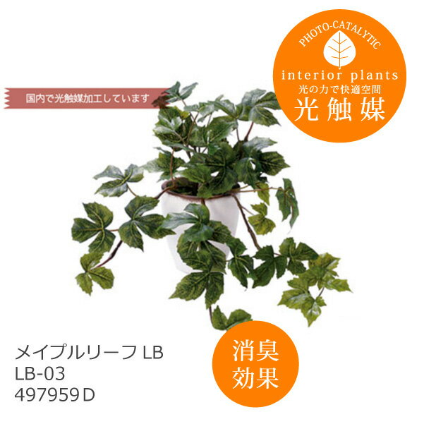 あす楽 光触媒 インテリアグリーン メイプルリーフLB LB-03 497959D 造花 観葉植物 人工 フェイクグリーン