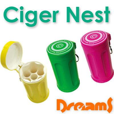 あす楽 Dreams ドリームズ シガーネスト 携帯灰皿 7本収納 ハニカム 灰皿 Ciger Nest