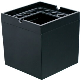 ノンレット灰皿 スクエア 黒 煙の出ない灰皿 卓上灰皿