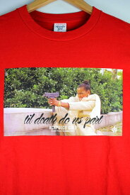 """ACAPULCO GOLD(アカプルコゴールド) / """"TIL DEATH DO US PART"""" Tee (Tシャツ) / red"""