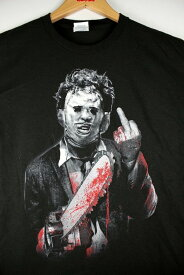 "THE TEXAS CHAINSAW MASSACRE (悪魔のいけにえ) / ""LEATHERFACE A LITTLE ANGRY"" Tee (Tシャツ) / black  テキサスチェーンソー"