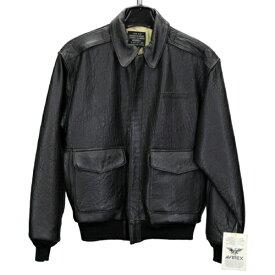 AVIREX A-2 BLACK 90年代 デットストック レザージャケット 羊皮 ブラック  新品