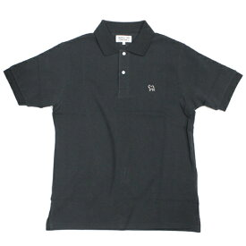 SONTAKU/忖度(ソンタク)【黒柴犬ポロシャツ】ワッペン付き鹿の子半袖ポロシャツ「日本製」ブラック、ネイビー