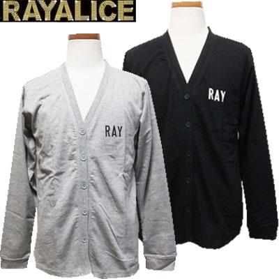 【ネコポスOK】 RAYALICE レイアリス 女児 バックロゴプリント テールカット カーディガン 杢グレー、ブラック 140cm、150cm、160cm キッズ、子供、子供服、女の子【RCP】