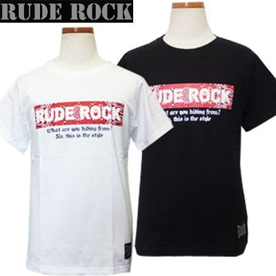 【ネコポスOK】 RUDE ROCK ルードロック 男児 ペイズリー&ロゴプリント 背当てチェック 半袖Tシャツ オフホワイト、ブラック 140cm、150cm、160cm 子供、子供服、キッズ、男の子  【RCP】