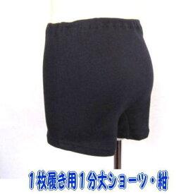 【日本製・メール便4枚まで】累計3,000枚突破!女児 一枚履き紺1分丈ショーツ 綿100% 120・130・140・150・160・170・180サイズ キッズ・ジュニア 一分丈