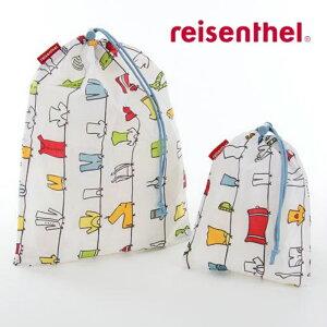 reisenthel(ライゼンタール)オーガナイザー 中・小サイズ2枚セットランドリーバッグ 濡れたものを収納できる 巾着 部活 ひとり暮らし メール便可