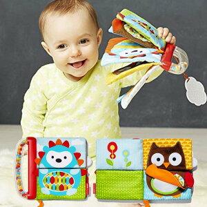 布の絵本 しかけがいっぱい シャカシャカ音やミラー 0歳 1歳 2歳 ミックス&マッチブック SKIP HOP