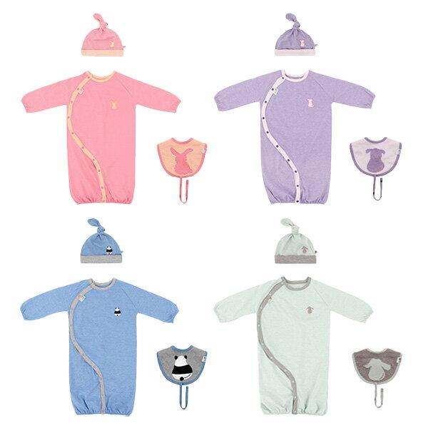 【メール便可】【送料無料】出産祝い セット 赤ちゃん ツーウェイオール 帽子 よだれかけ 【HAN'S PUMPKIN】ハンスパンプキン アニマルテールセット/HANS-ANIMALTAILSET