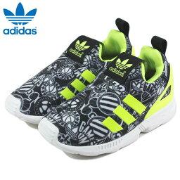 小孩愛迪達adidas ZX FLUX 360 I Z X亞麻360 I FTW白/太陽能黄色/FTW白S75217