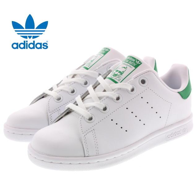 期間限定 送料無料 30%OFF子供 アディダス adidas STAN SMITH EL C スタンスミス EL C FTWホワイト/FTWホワイト/グリーン BA8375