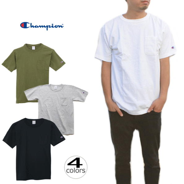 定番 チャンピオン Champion T1011(ティーテンイレブン)ポケット付き US Tシャツ 17SS MADE IN USA 【アメリカ製】 C5-B303 ホワイト(010)オックスフォードグレー(070)ネイビー(370)アーミーグリーン(670)【FKOL】