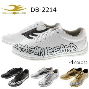 定番 ドラゴンベアード DRAGON BEARD スニーカー DB-2214 ホワイト ブラック シルバー ゴールド[DC]
