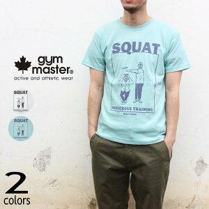 [300円クーポンプレゼント][ネコポス配送可] ジムマスター gym master Tシャツ スクワット ティー SQUAT TEE G480675 01(ホワイト) 41(ミント) [WA]【GOOI】
