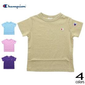 [メール便可] 子供服 チャンピオン Champion Tシャツ CS6408 03(ベージュ) 10(サックス) 19(ピンク) 40(パープル) [T][WA]【GOOH】