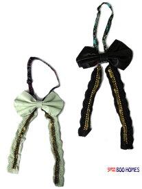 リボンタイ 女の子 羊革 スーパーブーホームズ ブーフーウー ボウタイ 3074907 子供服 キッズ セール対象外 ノベ対象
