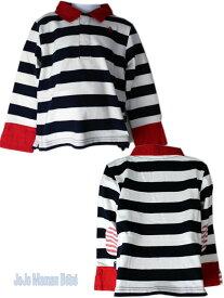 キッズ ラグビー ラガーシャツ ボーダー ロンT 長袖Tシャツ (2〜5歳)B8058 子供服 キッズ ベビー ジュニア 50% ジョジョママンベベ JoJo Maman Bebe 海外ブランド ハロウィン 衣装 子供