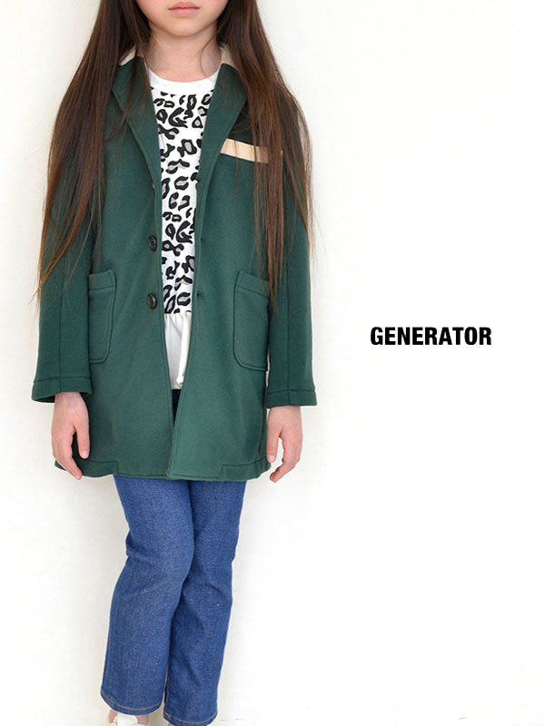 半額 セール SALE50%OFF SALE ジェネレーター スーツ GENERATOR ジェネレーター スーツ レオパードロングTシャツ(140)945404・947404子供服 キッズ ベビー ジュニア
