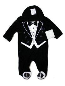 ベビー エッセンシャル Baby Essentials キャップ ロンパース セット 3ヶ月 3M 88278 ノベ対象 セール対象外 子供服 ベビー 男の子 男子 ブラック タキシード 新生児 ギフト アメリカ直輸入