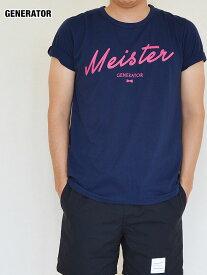 大人 メンズ 半袖 Tシャツ ネイビー ピンク ジェネレーター スーツ マイスターロゴ (レディースM・メンズM)053421 セール 64%OFF SALE