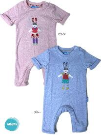 05603c69e05e2 うさぎ 男児 女児 ベビー 半袖 ロンパース (0〜12ヶ月) ベビー 新生児 1歳