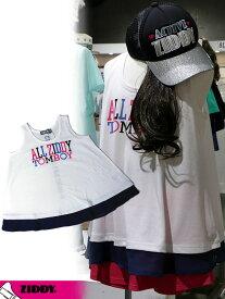 ジディー ZIDDY 半額セール 50%OFF SALE 裾シフォンタンクトップ 130cm 140cm 150cm 160cm 1236-730135 子供服 キッズ ベビー ジュニア 女の子