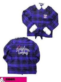 ジディー ZIDDY ボア付きチェックシャツ 160cm 1226-370015[70%] 子供服 キッズ ベビー ジュニア