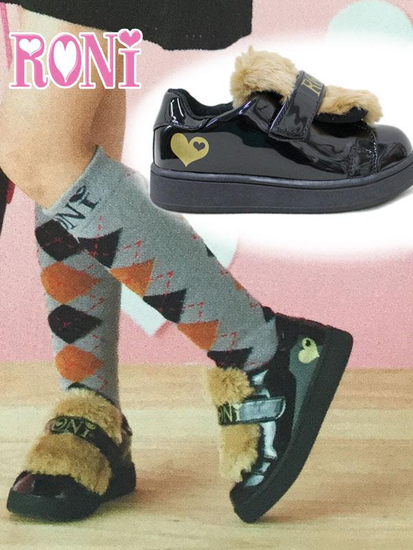 ロニィ RONI ファーベルクロスニーカー/靴(17-23cm)137591490・137591500子供服 キッズ ジュニア 女の子 50%OFF SALE セール!