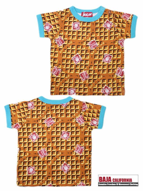 バハスマイル BAJA 天竺スマイルワッフル柄Tシャツ 80cm 90cm 2012205[50%] 子供服 キッズ ベビー ジュニア