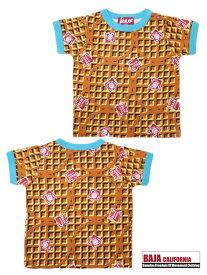 バハスマイル BAJA バハ 天竺スマイル ワッフル柄 Tシャツ 80cm 90cm 2012205[50%] 子供服 ベビー キッズ 男の子 女の子 男子 女子