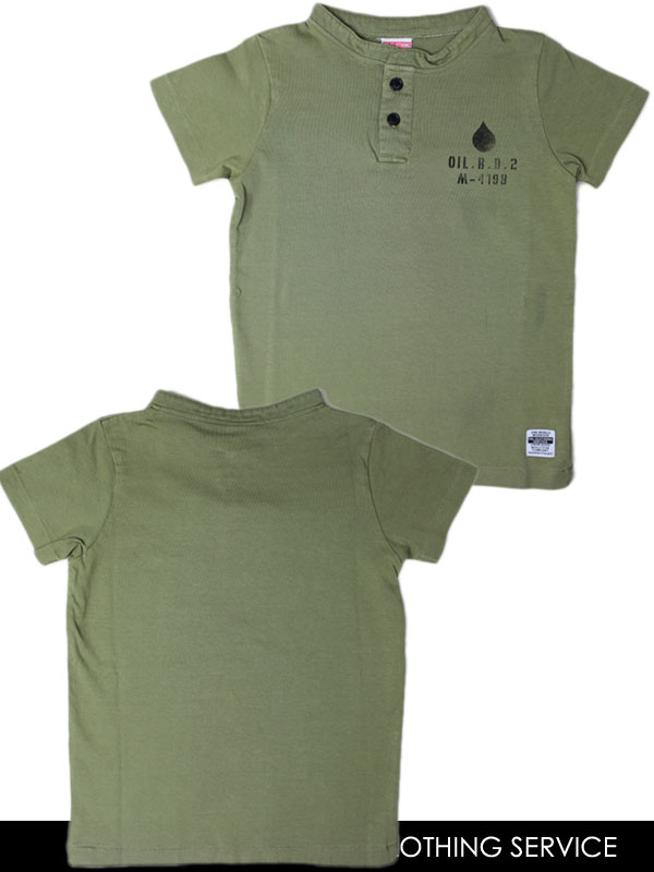 オイルクロージングサービス OIL CLOTHING SERVICE ヘンリーネックTシャツ(レディースM〜メンズLL)140231[50%] 子供服 キッズ ベビー ジュニア