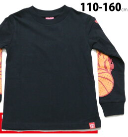 Tシャツ 長袖 コンベックス 子供服 男の子 女の子 110 120 130 140 150cm 160cm 155243-1 キッズ ジュニア ノベ対象 新作 20秋冬 XD FIRE BALL-LONG T