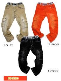 男の子 女の子 ベロアカーゴ パンツ ズボン S 100cm 46374[50%] 子供服 キッズ ベビー ジュニア レッカーズ Reckers