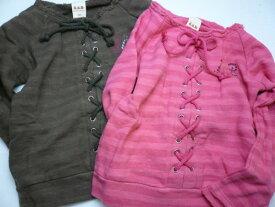 【60%】エーアーベー 編み上げ薄手 トレーナー 90cm 子供服 キッズ ベビー ジュニア 男の子 女の子 BEBE ベベ
