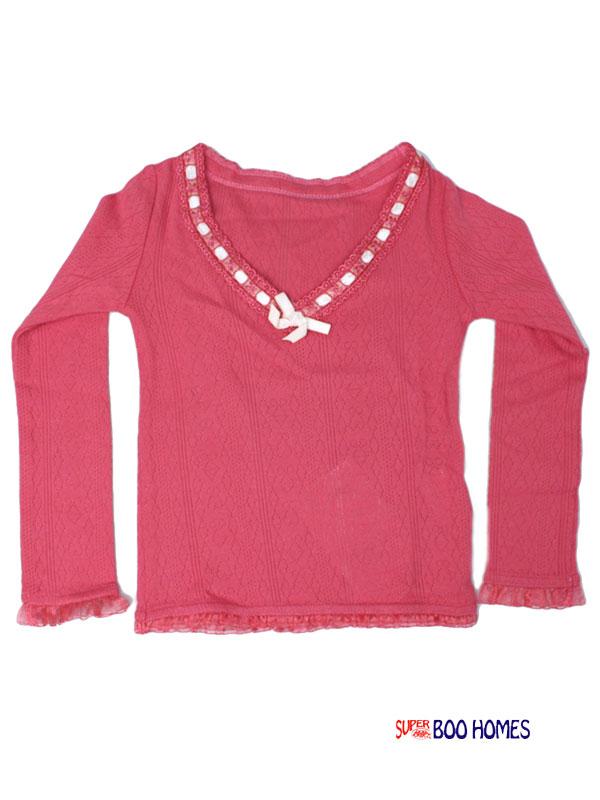スーパーブーホームズ ブーフーウー 針抜きフライス VネックTシャツ 110cm 130cm 6743701 50% 子供服 キッズ ベビー ジュニア