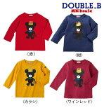 ●【ミキハウス*ダブルB】キングくん長袖Tシャツ【80・90cm】