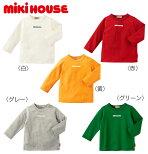 ●【ミキハウス】mikihouseロゴプリント長袖Tシャツ【80・90・100・110・120・130cm】
