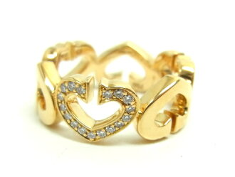 """Free shipping"" Cartier Cartier ""C heart of Cartier rings ring jewelry (750, K18YG / yellow) C heart of Cartier ring B4041700""# 49 (country size: 9)""15504 @"