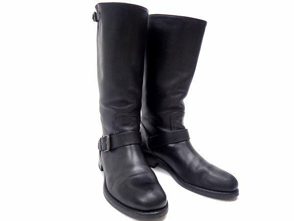 【★送料込★】 BOTTEGA VENETA ボッテガヴェネタ 『レザーブーツ』 《サイズ:39/公式サイズ:26cm》ブラック/ラウンドトゥ/靴/シューズ/イタリア製/セレブ愛用/ブランド/黒/カーフ/エンジニア/ワーク ブーツ/安全靴/ジョッキー/レディース 21939k0188 @【中古】