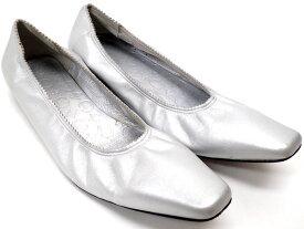 【★送料込★】 CELINE セリーヌ 『フラットシューズ』 《サイズ:37.1/2(公式サイズ24.5cm)》 シルバー/レザー/パンプス/シューズ/靴/レディース 26960k1119 @【中古】