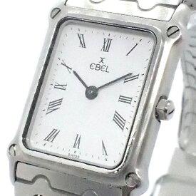 【★送料込★】 EBEL エベル 『腕時計』 SS/QZ/ホワイト文字盤/ステンレススチール/ステンレス/時計/クォーツ/カジュアル/ビジネス/ブランド/レディース 《1ヵ月保証付き!!》 28648K0250 @【中古】