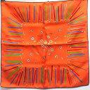 【★新品同様★】HERMES/エルメス『カレ45《A Vos Crayons/さあ色鉛筆を出して》オレンジ×ヴェール×モーブ/orange×…