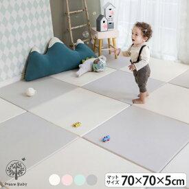 ジョイントマット パズルマット クッションマット LICOCO 赤ちゃん 子供 キッズ マット フロアーマット 北欧 防音 はいはい お昼寝 70cm×70cm グレー 厚手