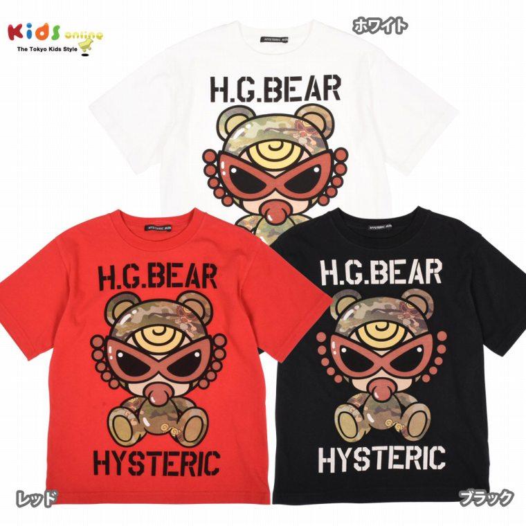Hystericmini ヒステリックミニ 迷彩TEDDYMINIプリントTシャツ