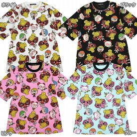 Hystericmini ヒステリックミニ SUPER POP MATE総柄BIGシルエットTシャツ