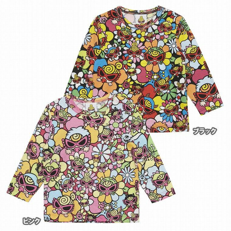 MY FIRST HYSTERIC マイファーストヒステリック MONSTER FLOWER GARDEN総柄 オーガニックコットン長袖Tシャツ