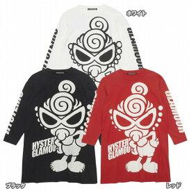Hystericmini ヒステリックミニ STANDARD MARK 袖ロゴ単色プリント BIG長袖Tシャツ